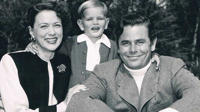 Eleanor Powell, Peter Ford and Glenn Ford