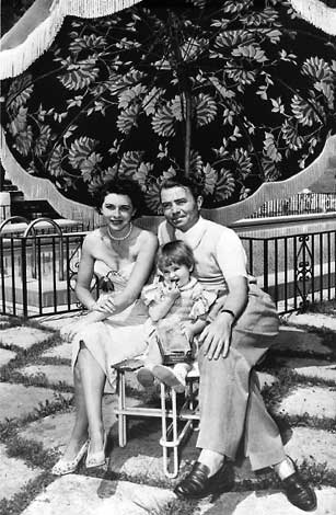 James Mason at home with his wife.