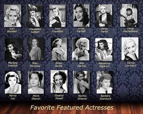Favorite Featured Actresses A to G