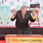 Jerry Lewis gets footprints in cement in Hollywood