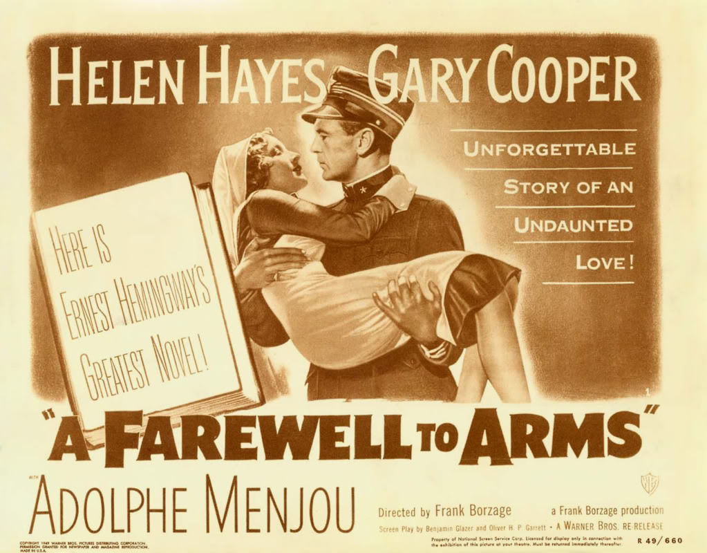 Film Comparison: A Farewell to Arms 1932 and 1957 A Farewell To Arms Movie Poster