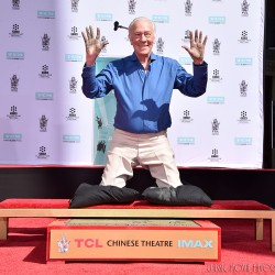 Christopher Plummer Hand & Footprint Ceremony in Hollywood