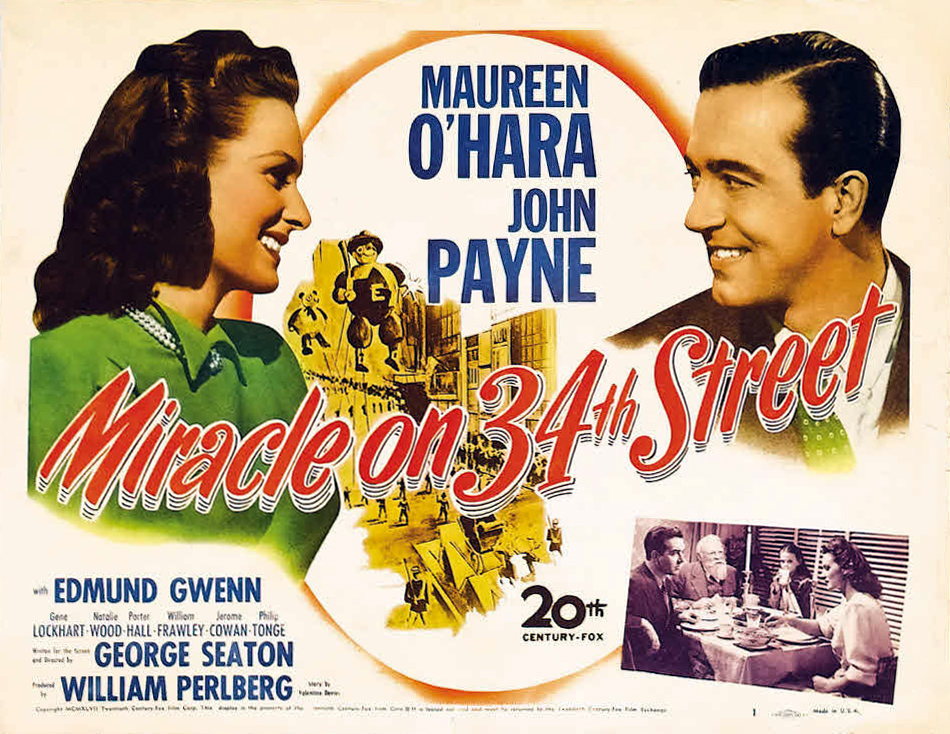 Image result for miracle on 34th street poster 1947