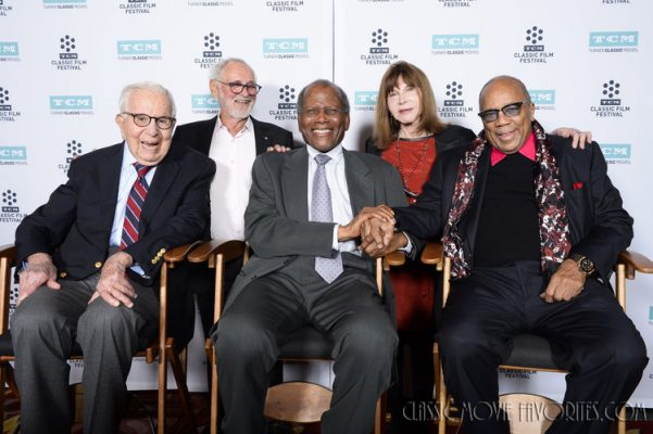 First Row: Walter Mirisch, Sidney Poitier, Quincy Jones Second Row: Norman Jewison, Lee Grant