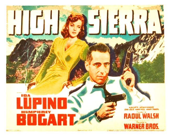 Humphrey Bogart stars in the film noir High Sierra (1941)