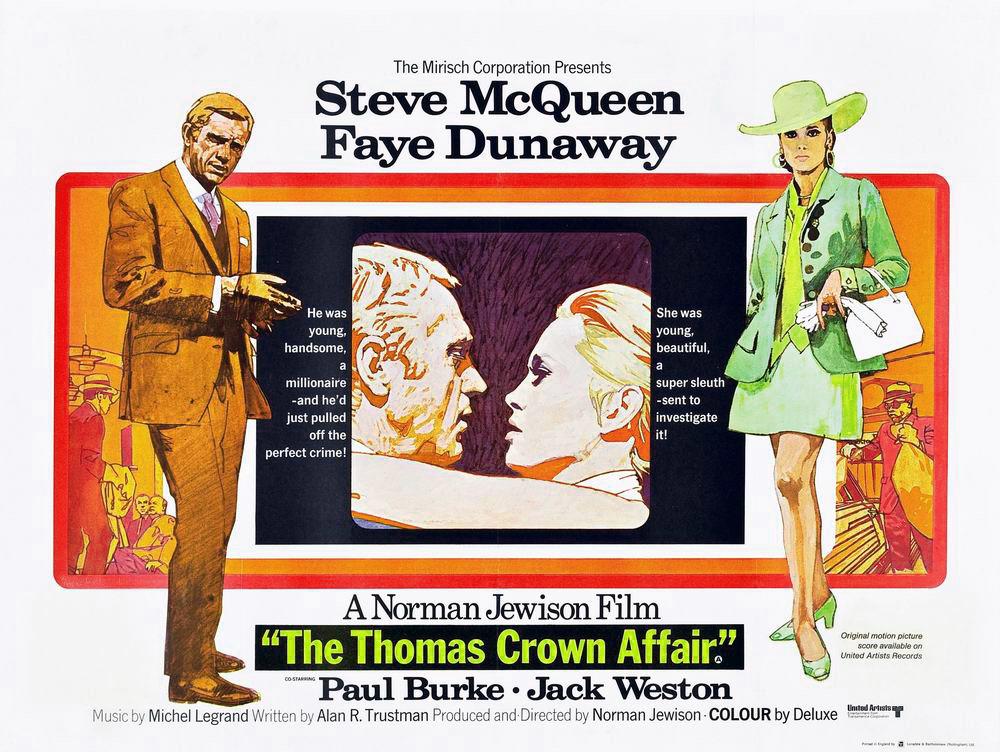 Steve McQueen excels in The Thomas Crown Affair (1968)